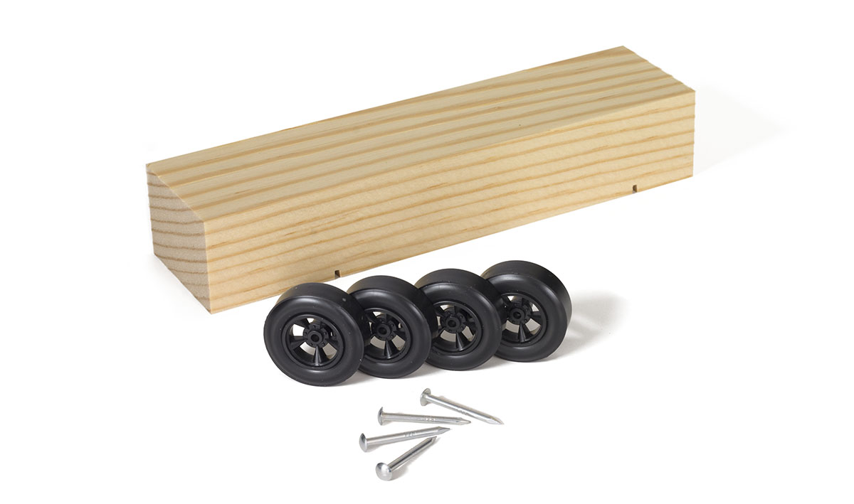 pinewood derby car kit instructions